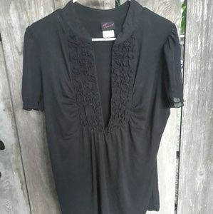 Torrid size 2 black blouse
